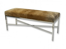 cowhide bench