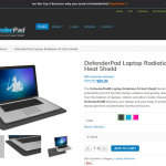 DefenderPad Laptop Radiation